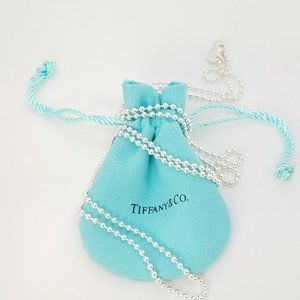 Tiffany & Co. 925 Large Beaded Toilet 30' In Chain
